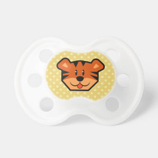 Cute Tiger Face and Polka Dots Baby Shower Gift 02 Baby Pacifier