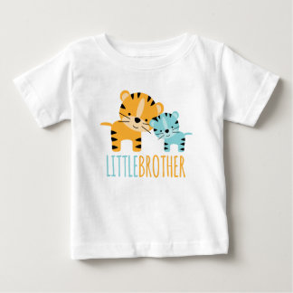 """Cute Tiger """"Little Brother"""" Baby T-Shirt"""
