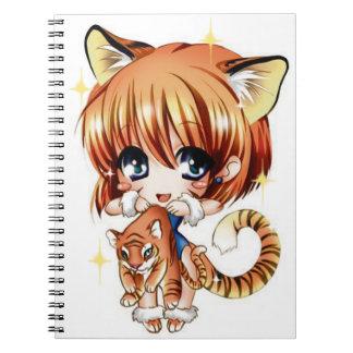 Cute Tiger Love Notebook