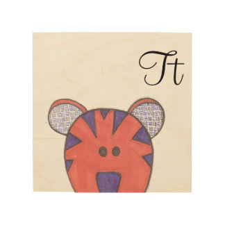 Cute Tiger Panel Art - T is for Tiger
