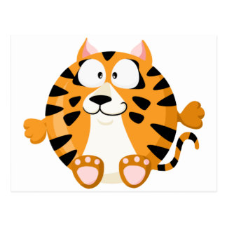 Cute tiger postcards