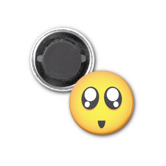 Cute & tiny big teary eyes emoji 3 cm round magnet
