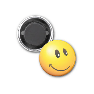 Cute & tiny looking at you emoji 3 cm round magnet