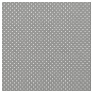 Cute Tiny Mini Smaller Pale Gray Polka Dot Pattern Fabric