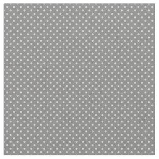 Cute Tiny Mini Smaller Pale Gray Polka Dot Pattern Fabric