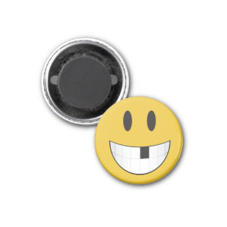 Cute & tiny my 1st missing tooth emoji 3 cm round magnet