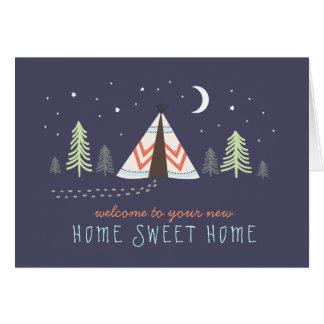 Cute Tipi New Home Card