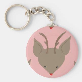 Cute to reindeer key ring