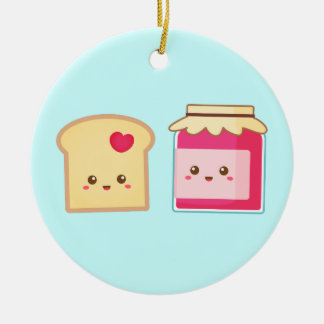 Cute Toast and Strawberry Jam, Spread Love Christmas Ornament