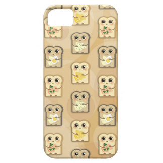 Cute Toast Pattern iPhone 5 Barely There case