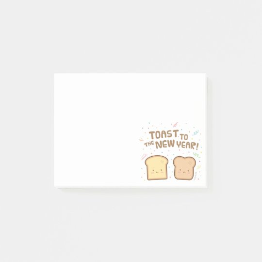Cute Toast to the New Year Pun Humour