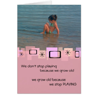 Cute Toddler At The Beach Birthday Greeting Card