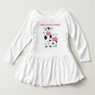 Cute Toddler Ruffle Dress/Happy Mommy and Baby Tee Shirts