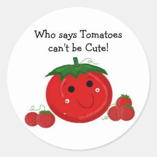 Cartoon Tomato Stickers | Zazzle.co.uk