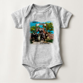 Cute Toon Zoo Bodysuit or Shirt with Name
