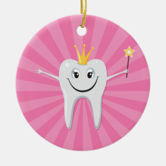 Cute tooth fairy cartoon character ornament