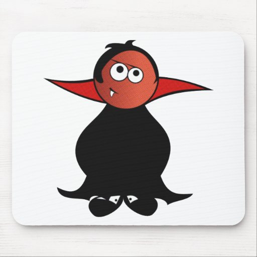 CUTE TOOTH PATCHY VAMPIRE DRACULA MOUSEPAD