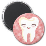 Cute Tooth - Pink Magnet Fridge Magnets