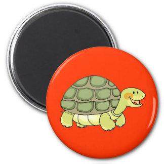 Cute tortoise 6 cm round magnet