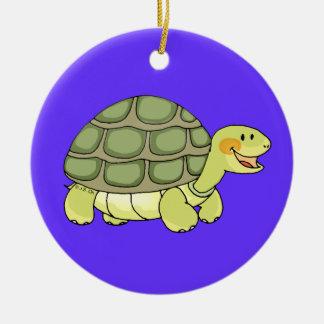 Cute tortoise christmas ornament