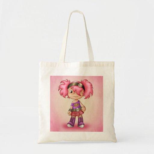 Cute Tote Bag With Punk Cartoon Girl - Teen