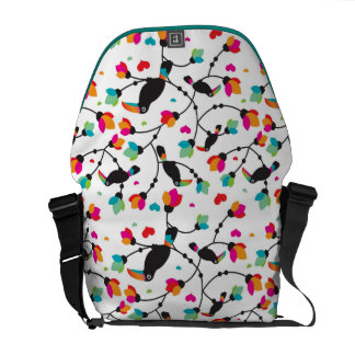 cute toucan bird tropical illustration commuter bags