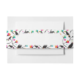 cute toucan bird tropical illustration invitation belly band