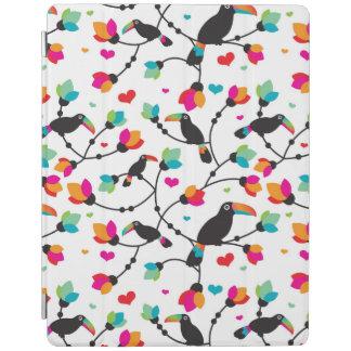 cute toucan bird tropical illustration iPad cover