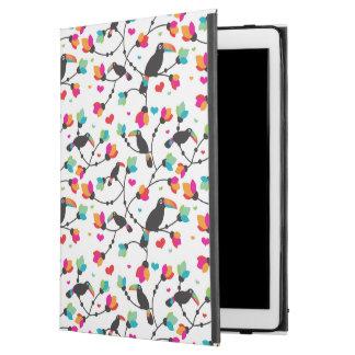 "cute toucan bird tropical illustration iPad pro 12.9"" case"