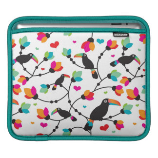 cute toucan bird tropical illustration iPad sleeve