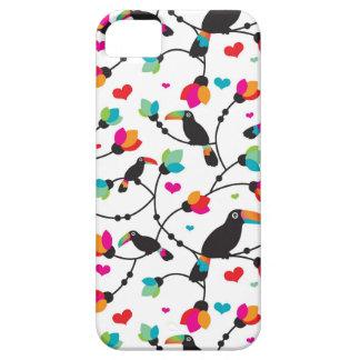 cute toucan bird tropical illustration iPhone 5 cases