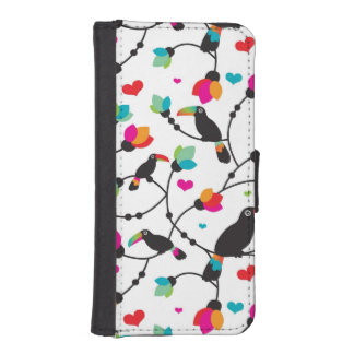 cute toucan bird tropical illustration iPhone SE/5/5s wallet case
