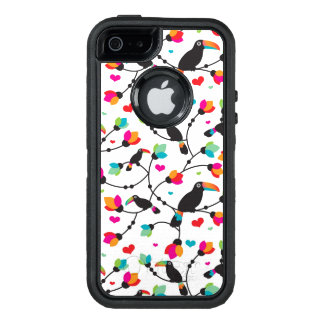 cute toucan bird tropical illustration OtterBox defender iPhone case