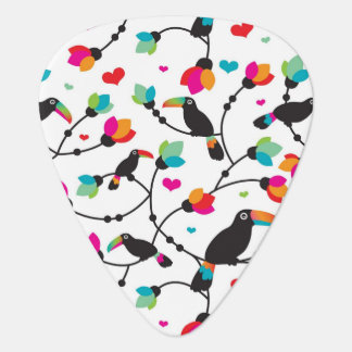 cute toucan bird tropical illustration plectrum