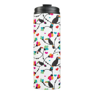 cute toucan bird tropical illustration thermal tumbler