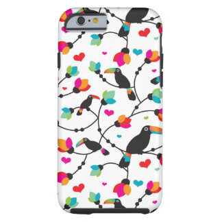 cute toucan bird tropical illustration tough iPhone 6 case