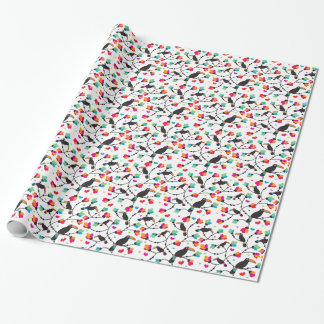 cute toucan bird tropical illustration wrapping paper