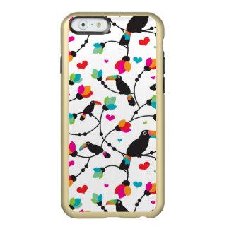 cute toucan bird tropical illustration incipio feather® shine iPhone 6 case