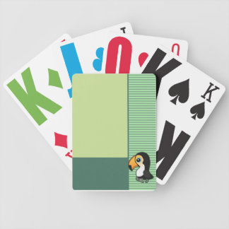 Cute Toucan Green Cards Deck Of Cards