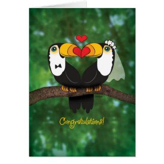Cute Toucan Wedding Congratulations Card