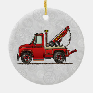 Cute Tow Truck Wrecker Christmas Ornament
