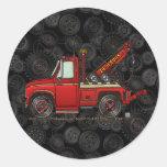 Cute Tow Truck Wrecker Round Sticker