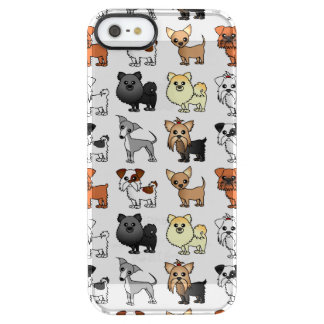 Cute Toy Dog Breed Pattern Clear iPhone SE/5/5s Case
