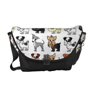 Cute Toy Dog Breed Pattern Commuter Bag
