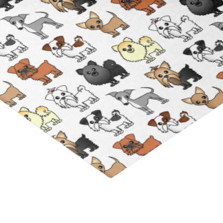 Cute Toy Dog Breed Pattern Tissue Paper