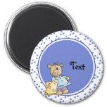 Cute toy teddy design fridge magnet