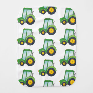 Cute Tractor Pattern Burp Cloth