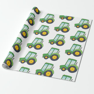 Cute Tractor Pattern Wrapping Paper
