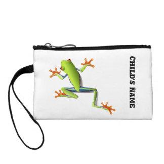 Cute Tree Frog Change Purses