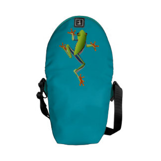 Cute Tree Frog Messenger Bags